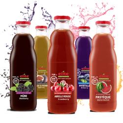 100% Bio ovocná šťava 700ml Granátové jablko, hrozno, jablko