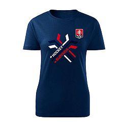 Dámske tričko Hockey Slovakia prekrížené hokejky