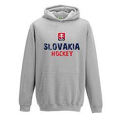 Detská mikina s kapucňou Slovakia Hockey