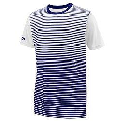 Detské tričko Wilson Team Striped Crew Navy/White