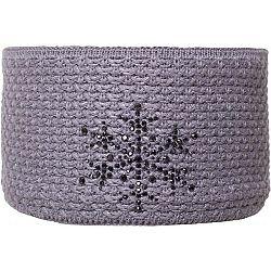 R-JET FASHION EXCLUSIVE STRIEBORNÝ LUREX - Dámska pletená čelenka