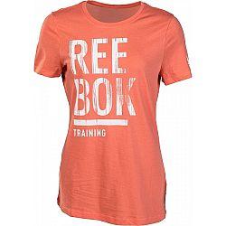 Reebok TRAINING SPLIT TEE - Dámske tričko
