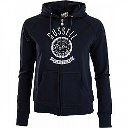 Russell Athletic ZIP TROUGH HOODY WITH ROSETTE PRINT - Dámska mikina