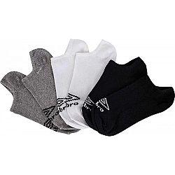 Umbro NO SHOW LINER 3 PACK - Ponožky