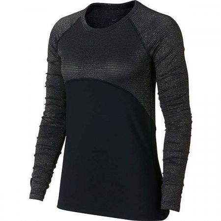Nike NP WM TOP LS CHMPGNE - Dámske športové tričko